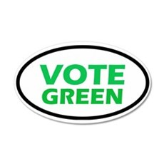 Vote Green 20x12 Oval Wall Peel