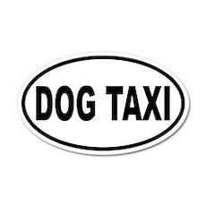 Dog Taxi 20x12 Oval Wall Peel