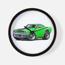 1970 Roadrunner Green-Black Car Wall Clock
