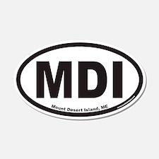 Mount Desert Island MDI Euro 20x12 Oval Wall Peel