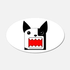 Boston Terrier Rawr Half White - Leftie Sticker (O