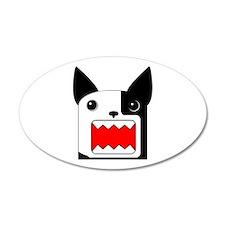 Boston Terrier Rawr Half White - Leftie Sticker (O