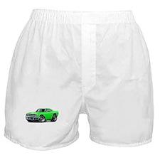 1970 Roadrunner Green Car Boxer Shorts