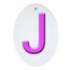 Letter J Monogram Ornament (Oval)