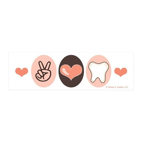 Peace Love Dentistry Dentist 20x6 Wall Peel