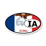 Iowa State Flag 35x21 Oval Wall Peel