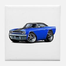1970 Roadrunner Blue-Black Car Tile Coaster