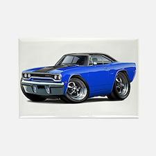 1970 Roadrunner Blue-Black Car Rectangle Magnet