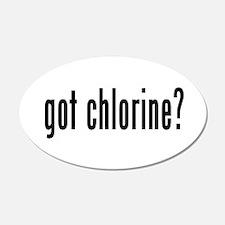 got chlorine? 20x12 Oval Wall Peel