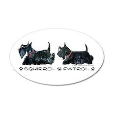 Scottie Squirrel Patrol Terri 20x12 Oval Wall Peel