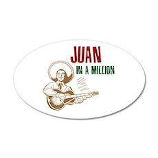 Juan in a Million 20x12 Oval Wall Peel