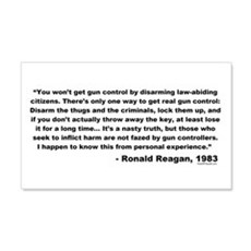 Reagan: You won't get gun control Sticker (Rectang