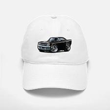 1970 Roadrunner Black Car Baseball Baseball Cap