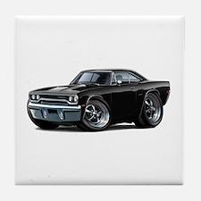 1970 Roadrunner Black Car Tile Coaster