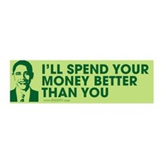 Spend Your Money Better 36x11 Wall Peel
