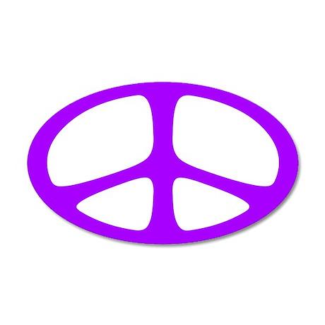 Peace 20x12 Oval Wall Peel (Neo Purple)