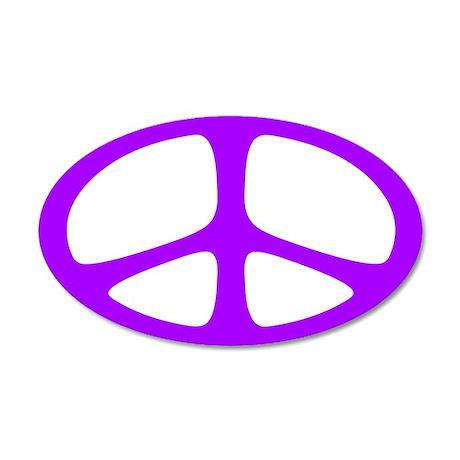 Peace 35x21 Oval Wall Peel (Neo Purple)