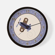 Zooming Along Airplane Wall Clock