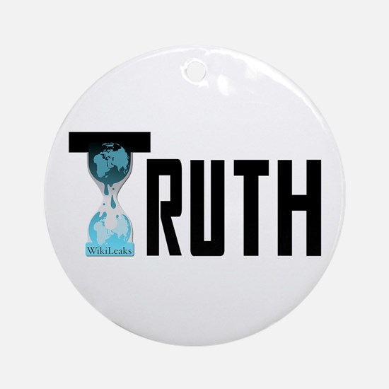 Truth Wikileaks Ornament (Round)