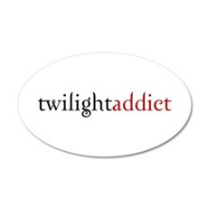 twilight addict (2) 20x12 Oval Wall Peel