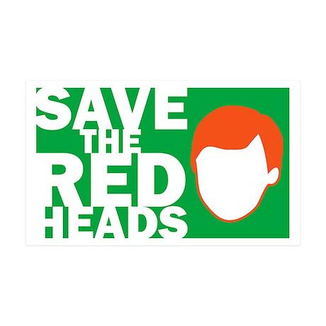 Save the Redheads 35x21 Wall Peel