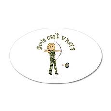 Blonde Camouflage Archery 20x12 Oval Wall Peel