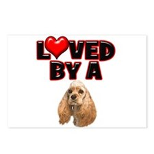 Loved by a Cocker Spaniel Postcards (Package of 8)