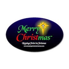 Merry CHRISTmas 3 x 5 20x12 Oval Wall Peel