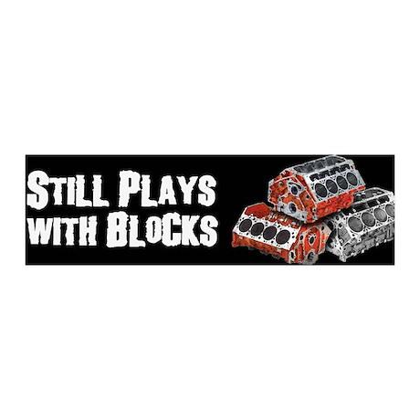Still Plays With Blocks 36x11 Wall Peel