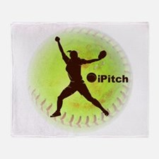 iPitch Fastpitch Softball Throw Blanket