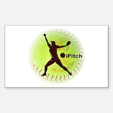 iPitch Fastpitch Softball Sticker (Rectangle)