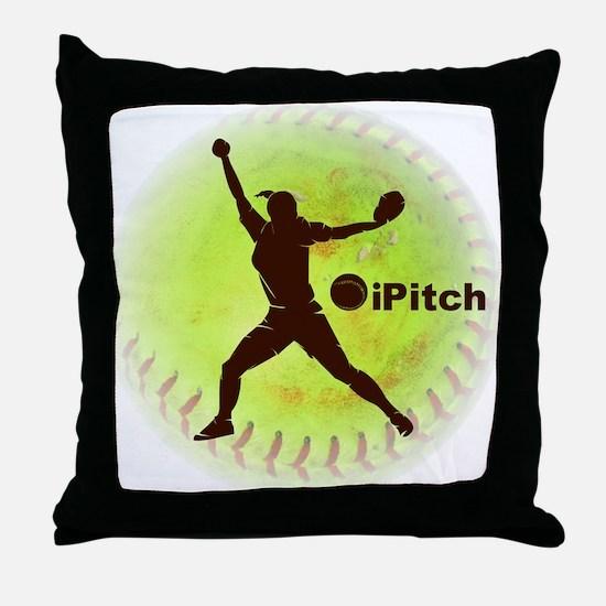 iPitch Fastpitch Softball Throw Pillow