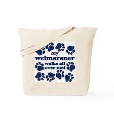 Weimaraner WALKS Tote Bag