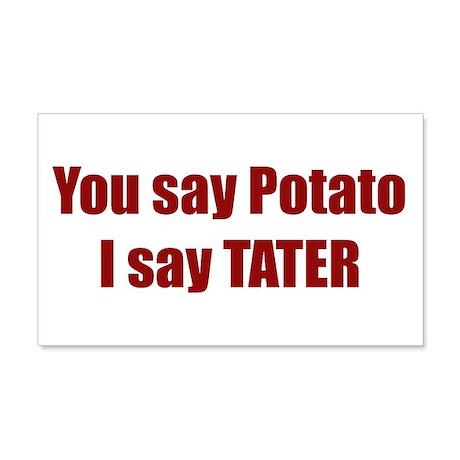 Potato Tater 20x12 Wall Peel