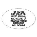 Hey, Michael Sticker (Oval)