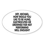 Hey, Michael Sticker (Oval 50 pk)