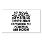 Hey, Michael Sticker (Rectangle 10 pk)