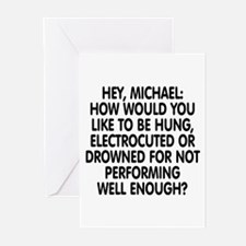 Hey, Michael Greeting Cards (Pk of 10)