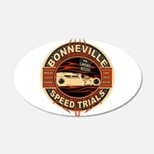 BONNEVILLE SALT FLAT TRIBUTE 20x12 Oval Wall Peel