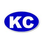 Kansas City, Kansas 20x12 Oval Wall Peel