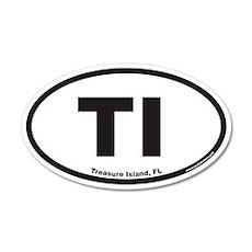 Treasure Island Florida TI Euro 20x12 Oval Wall Pe