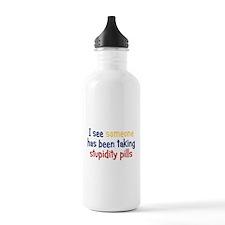 Stupidity Pills Water Bottle