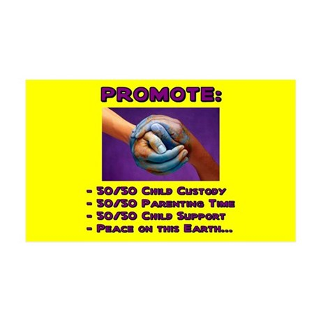 Promote 50/50 World Purple 35x21 Wall Peel