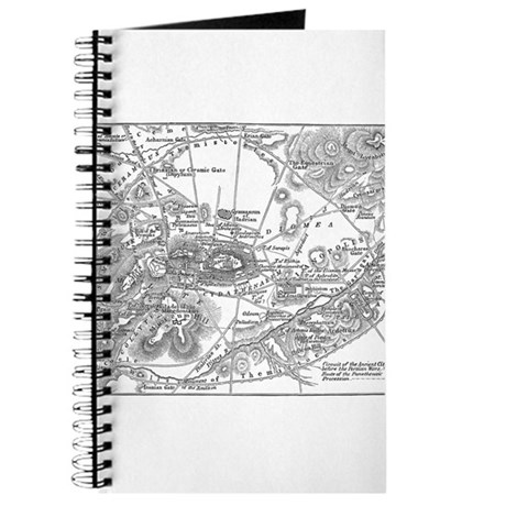 Ancient Athens Map Journal