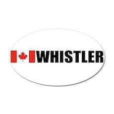 Whistler, British Columbia 35x21 Oval Wall Peel