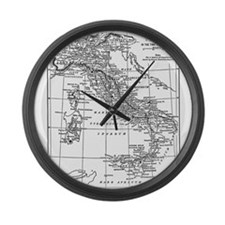 Augustus' Italy Map Large Wall Clock