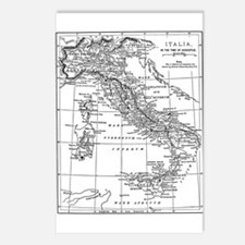 Augustus' Italy Map Postcards (Package of 8)
