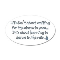 Dance In The Rain 20x12 Oval Wall Peel