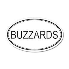 Oval Design: BUZZARDS 20x12 Oval Wall Peel