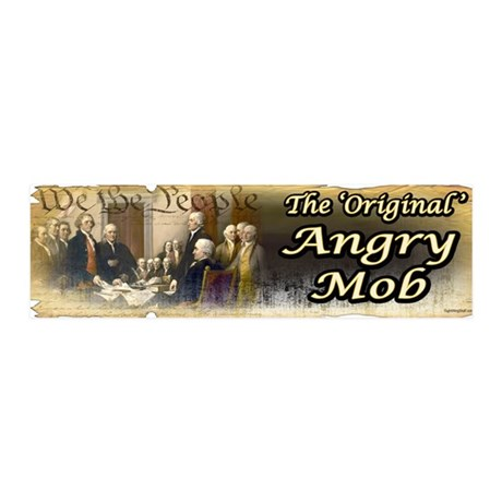 Original Angry Mob 36x11 Wall Peel
